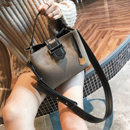 Wholesale Boston Bag Strap - Wide strap bucket style shoulder bag , nubuck style bag, western style tote, characteristic lady bag for elegant life