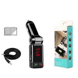 Wholesale Car Mp3 Player Aux - Hot BC06 universal bluetooth car charger BT Dual USB charger MP3 MP4 player handfree mini port AUX FM transmitter