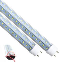 Wholesale Side Glow Led - T8 LED Tubes light V-Shape double glow both sides 4ft 28w 1.2m G13 LED fluorescent light AC85-265V CE UL RoHS