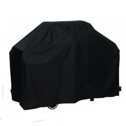 Wholesale Gas Barbeque Grill - Wholesale- Useful 170*61*117M Outdoor Waterproof Rain BBQ Cover Garden Gas Charcoal Electric Barbeque Grill Protective Cover Black