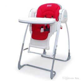 Wholesale Babies Swinging Chair - 2017 multi-function baby high chairs portable folding baby dining chair feeding chairs swing rock high-end luxury red white free shipping