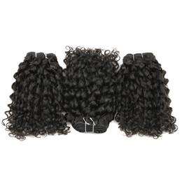 Wholesale France Wholesalers - 3 Bundles France Curly Brazilian Virgin Hair Weave Unprocessed Human Hair Natural Brown Brazilian Peruvian Malaysian Raw Indian Hair
