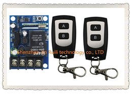 Wholesale Waterproof 12v Remote Control Switch - Wholesale- New DC12--48V 12V 24V 36V 48V 1CH 10A RF Wireless Remote Control Switch System teleswitch 2*waterproof Transmitter + 1 *Receiver