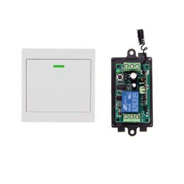 Wholesale Wireless Remote Control Wall - DC 9V 12V 24V 1 CH 1CH RF Wireless Remote Control Switch System Receiver+86 Wall Panel Transmitter,315 433.92 MHZ Toggle