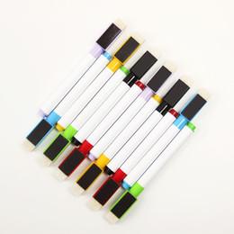 6шт/комплект новый магнитные доски перо стираемые сухой белый маркеры для досок Магнит, встроенный ластик школа офис поставки от Поставщики детские товары