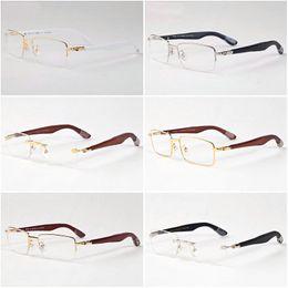 Wholesale Eyeglass Frames For Girls - luxury designer sunglasses for men women bamboo wood sunglasses brand eyeglasses big oversize frame clear lenses 2018 women sun glasses