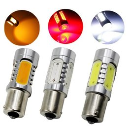 Wholesale Back Up Light Bulb - 50PCS 1156 1157 COB 7.5W High Power with Lens Led Car Auto Turn Signal Back Up Reverse Light