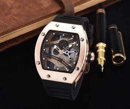 Wholesale Skeleton Watch Days - 2017 New Luxury brand Skull sport Watches men Casual Fashion Skeleton quartz watch free shippingMontre Homme SPROT WATCH2