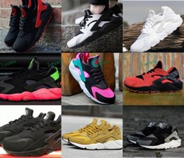 Wholesale Snow White Top - 2017 Classical Huaraches Running Shoes For Women & Men, Top Quality Air Huarache White Black Athletic Sport Sneakers Eur 36-46