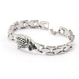 Wholesale Free Character Games - New Movie Jewelry Game of Thrones Bracelet Metal Alloy Bracelet For Men Fashion Charm Bracelet 10pcs Lot Free Shipping