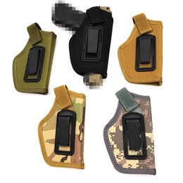 Wholesale Tactical Gun Pistol - Tactical IWB Concealed Belt Holster Clip On Carry Gun Pistol Holster Pouch for Compact Subcompact Pistols Outdoor accessories