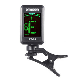 Wholesale Electric Acoustic Violin - ammoon AT-04 Clip-On Guitar Tuner Automatic Digital Electronic Tuner for Acoustic Electric Guitar Bass Chromatic Violin Ukulele
