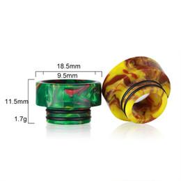 Electronic Cigarette Epoxy Resin Drip Tip Wide Bore doble O anillos E cig Boquilla para tfv12 / tfv8 / Kennedy / Goon 528 atomizador al por mayor de DHL desde fabricantes