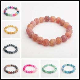 Wholesale Unique Yoga - Unique 7.8~8.5mm Handmade Beaded Weathering Gemstone Round Beads Stretchy Bracelet Yoga Energy Strands Gifts for Women