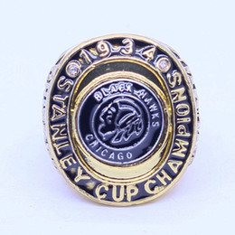 Wholesale Hawk Rings - 1934 stanley cup chicago black hawks world championship ring free shipping