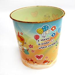 Wholesale Trash Can Box - Children's trash can, baby cartoon pattern shell box kindergarten plastic trash cans no cover fruit trash