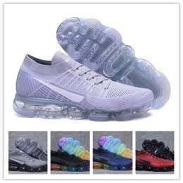 Wholesale Real True - 2017 New Rainbow VaporMax 2018 BE TRUE Men Woman Shock Running Shoes For Real Quality Fashion Man Casual Vapor Maxes Sports Sneakers