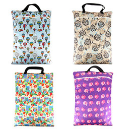 Wholesale Messenger Diaper Bag Wholesale - Wholesale-Diaper Mummy Baby Bag Washable Wet Dry Bag Easy to Take Cloth Diaper Nappy Bag with Zippered Pockets Durable Large Garbage Bags