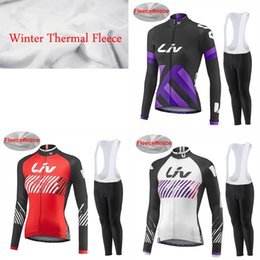 Wholesale Liv Clothes - 2017 New ! Liv Team Women's Cycling Jerseys Set, Winter Thermal Fleece Bicycle Clothing Womens Bicycle Clothing Bike Clothes Bike Jersey