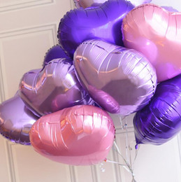 2019 globos de papel de color Globos en forma de corazón de 18 pulgadas Globos metálicos globos de papel infatables para la decoración de la boda Globos G919 rebajas globos de papel de color