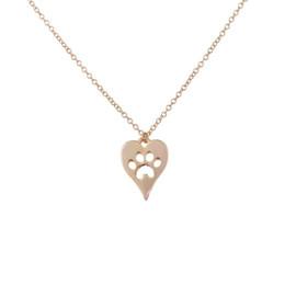 Wholesale Dog Pendant Earring - SMJEL Wholesale Animal Dog Paw Print Heart Link Chain Necklace for Women Pug Pendant&Necklace Wedding Gift 10pcs-N214