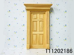 Wholesale Clay Furniture - G05-X4484 children baby gift Toy 1:12 Dollhouse mini Furniture Miniature rement-wooden door 1pcs