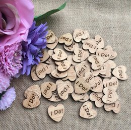 """Wholesale Table Buttons - 300pcs """"I DO"""" Letter Wooden Button Beads For Table Ornaments Wedding Decoration Photography Props"""
