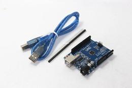Argentina Freeshipping piezas de la impresora 3D de alta calidad 10 UNIDS R3 MEGA328P CH340 CH340G para Arduino UNO R3 + cable USB Suministro