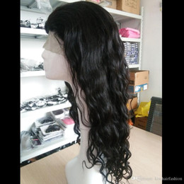 Wholesale Burmese Wavy - Full Lace Wigs Indian Hair Sale, Glueless Lace Front Wigs with Adjustment Straps, Natural Wave Virgin Hair Wavy Wigs