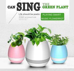 2019 éléphants en céramique en gros 100pcs Creative Bluetoth Smart Touch Musique Pots de fleurs Plante Piano Musique Jouer K3 Pot De Fleurs Sans Fil Sans Plante