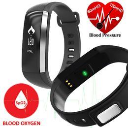 m2 reloj Rebajas M2 Banda Inteligente Presión Arterial Presión Arterial Oxímetro Oxímetro Pulsera Deportiva Reloj Reloj Inteligente Pulso Para iOS Android Hombres