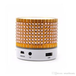 Wholesale Diamond Speaker - Portable Mini Multi Diamond Bluetooth Speaker Subwoofer Speakers Support TF Card For Computer Mobile Phone Mp3 S35U With 5 Colors