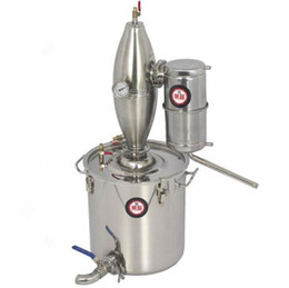 Wholesale Wine Brew - 25L Alcohol Stainless Distiller Home Brew Kit Moonshine Still Wine Making Boiler