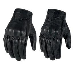 Wholesale Genuine Leather Gloves Wholesale - Wholesale- Motorcycles glove Waterproof Ventilation Genuine leather Scrub glove winter Sport tactical gloves Black Color