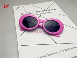 Wholesale Wholesale Rocks Glasses - 120pcs 19colors NIRVANA Kurt Cobain Sunglasses Retro Vintage Oval Sun glasses Men Women Punk Rock Shades round Eyewear R006