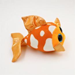 Wholesale Fish Beanies - Wholesale- Ty Beanie Boos Original Big Eyes Plush Toy Doll Child Birthday Gray Elephant Fish TY Baby 10-15cm