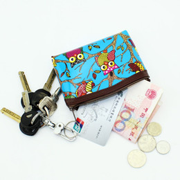 Wholesale Owl Changing Bag - Wholesale- Cute Owl graffiti Women coin purses Patent leather wallet change purse Ladies clutch zipper coins bag Female money Pouch handbag