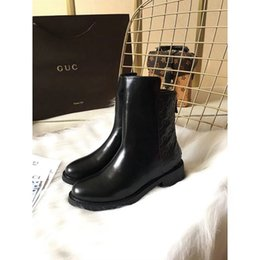 Wholesale Ankle Shop - Ms. Martin boots 2017 new high-end classic black boots fashion warm pressure patterns banquet shopping and work trips