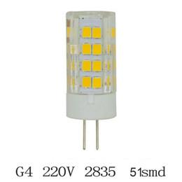 Wholesale G4 Led 7w - 1pcs LED Bulb SMD 2835 LED G4 LED lamp 5W 7W 51LEDs 64LEDs Corn Light 220V 360 Degree Replace Halogen Lamp
