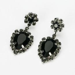 Wholesale Bijouterie Earrings - Hop bijouterie earring studs women's handbags droplets shining gold & silver plated crystal drop earrings women E248