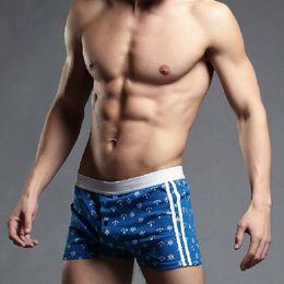 Wholesale Lower Pajama - Wholesale- superbody low-waist cotton shorts male Shia Luo men's fashion loose home pajama shorts