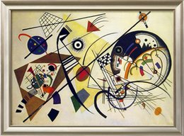 Wholesale Kandinsky Abstract Paintings - DURCHGEHENDER STRICH by Wassily Kandinsky Pure Handpainted Abstract Art oil painting On High Quality Canvas size can customized