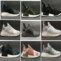 Wholesale Grey Wool Socks - NMD XR1 Runner Duck Camo X City Sock Green White Mastermind Japan Skull Pk Wool Boost Top quality Athletic Running Shoes Size 36-44