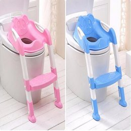 Wholesale Kids Potties - Hot Sale Safety Baby Step Ladder Potty Chair Kids Foldable Toilet Seat Trainer Infant Non-Slip Safety Potty Seat