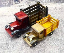 Wholesale Car Craft Models - 2017 new hot-selling crafts 10 inch wooden model truck children's toy car model for under 14