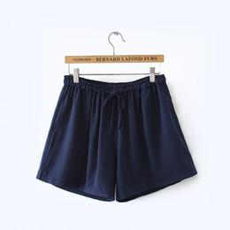 Wholesale Khaki Korean Pants - Hot Sale Plus Size Women's Clothing Solid Elastic Waist Shorts 2017 Summer Large Size Loose Multicolor Short Pants Korean Cotton Short