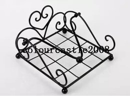 Wholesale Classic Metal Works - Wholesale- 2014 New wrought iron napkin holder tissue box Tissue paper holder tissue rack wedding party supplies free shipping