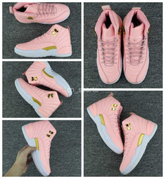 Wholesale Womens Boots 12 - 2017 New Air Retro 12 XII Women Basketball Shoes Pink Retros 12s Womens Sneakers Cheap Boot Basket ball Trainers Sport Shoes Eur 36-40