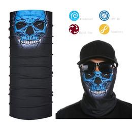 Wholesale Motorcycle Face Mask Pattern - Wholesale- Best Selling Motorcycle Tubes Black Skull Pattern Face Mask Bandana