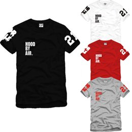 Wholesale Men S Kimonos - High Quality fashion stree t shirt Hood By Air HBA X Been Trill Kanye West Cotton short-sleeve Women Men Tee Hip-Hop Shirts